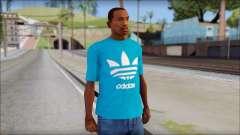 Blue Adidas Shirt для GTA San Andreas