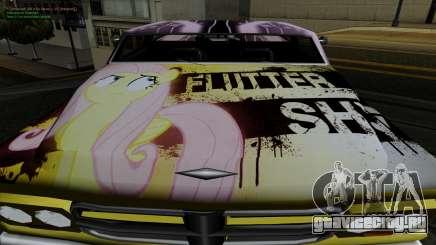 Покрасочная работа для Slamvan MLP Fluttershy для GTA San Andreas