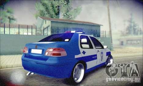 Fiat Albea Police Turkish для GTA San Andreas вид справа