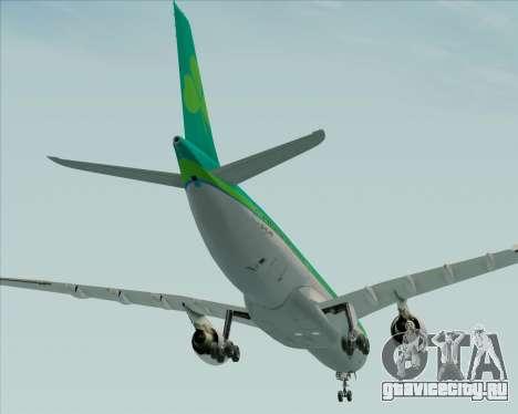 Airbus A330-300 Aer Lingus для GTA San Andreas вид снизу