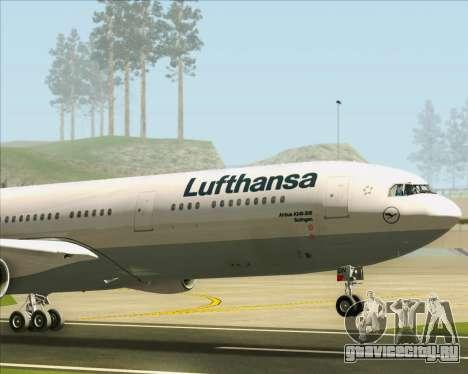 Airbus A340-313 Lufthansa для GTA San Andreas вид сверху
