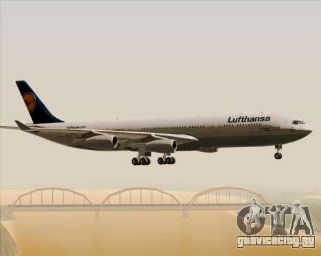 Airbus A340-313 Lufthansa для GTA San Andreas вид снизу