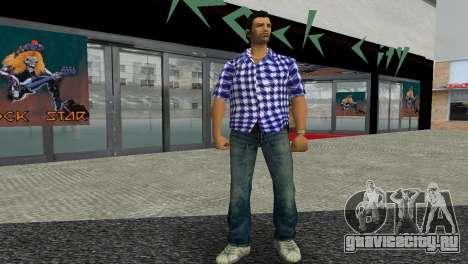 Kockas polo - sotetkek T-Shirt для GTA Vice City второй скриншот