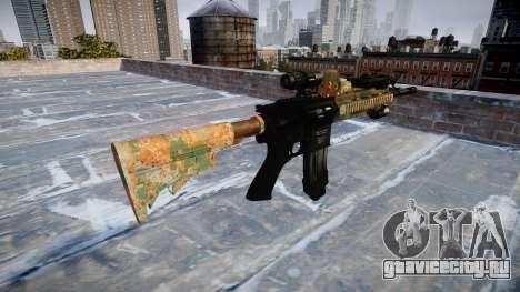 Автоматический карабин Colt M4A1 jungle для GTA 4 второй скриншот