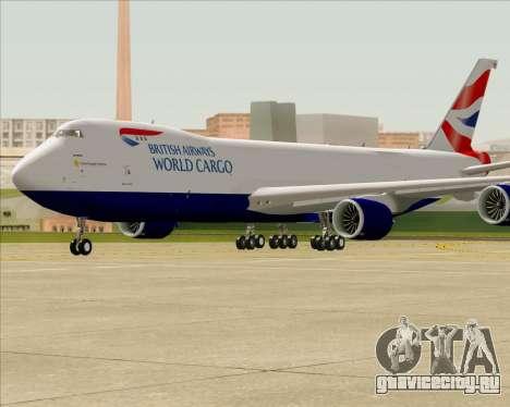 Boeing 747-8 Cargo British Airways World Cargo для GTA San Andreas вид изнутри