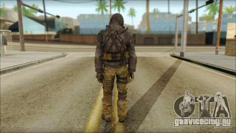 Latino Resurrection Skin from COD 5 для GTA San Andreas второй скриншот