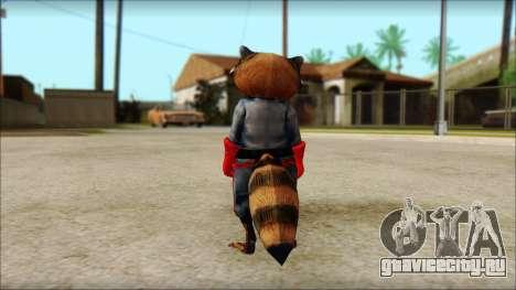 Guardians of the Galaxy Rocket Raccoon v1 для GTA San Andreas второй скриншот