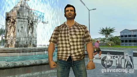 Kockas polo - koszos T-Shirt для GTA Vice City второй скриншот