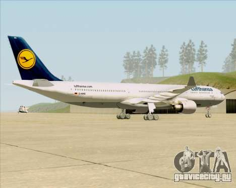 Airbus A330-300 Lufthansa для GTA San Andreas вид справа