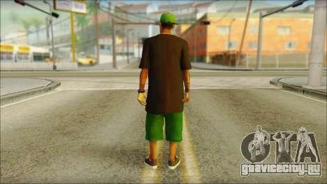 New Grove Street Family Skin v3 для GTA San Andreas второй скриншот