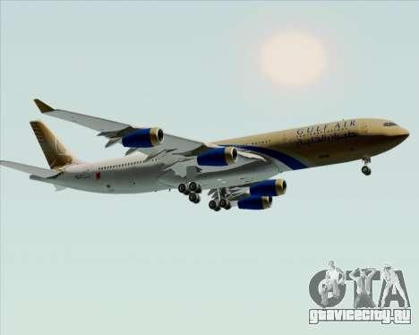 Airbus A340-313 Gulf Air для GTA San Andreas вид изнутри