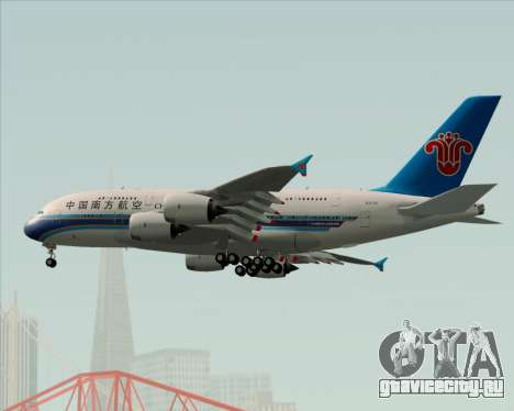 Airbus A380-841 China Southern Airlines для GTA San Andreas вид сверху