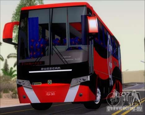 Busscar Elegance 360 C.R.F Flamengo для GTA San Andreas вид сзади