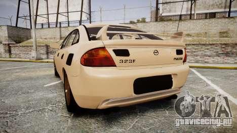 Mazda 323f 1998 для GTA 4 вид сзади слева