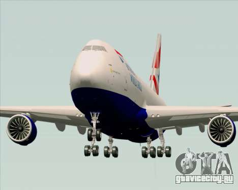 Boeing 747-8 Cargo British Airways World Cargo для GTA San Andreas вид справа