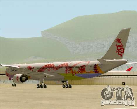 Airbus A330-300 Dragonair (20th Year Livery) для GTA San Andreas вид сзади слева