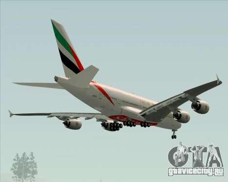 Airbus A380-841 Emirates для GTA San Andreas колёса