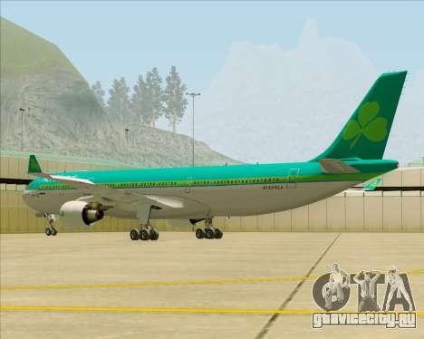 Airbus A330-300 Aer Lingus для GTA San Andreas вид сзади слева