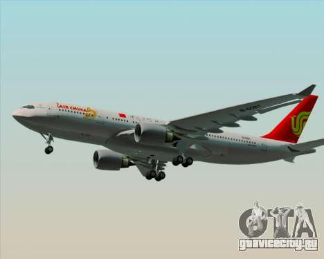 Airbus A330-200 Air China для GTA San Andreas вид изнутри