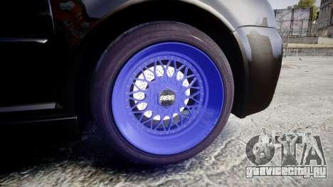 Volkswagen Golf Mk4 R32 Wheel1 для GTA 4 вид сзади