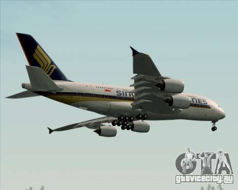 Airbus A380-841 Singapore Airlines для GTA San Andreas вид изнутри