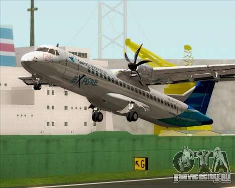 ATR 72-500 Garuda Indonesia Explore для GTA San Andreas салон
