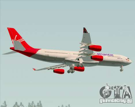 Airbus A340-313 Virgin Atlantic Airways для GTA San Andreas вид изнутри