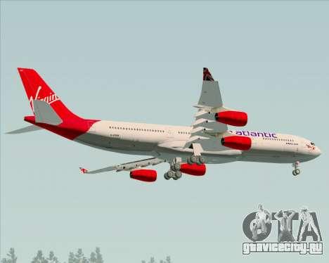 Airbus A340-313 Virgin Atlantic Airways для GTA San Andreas вид изнутри