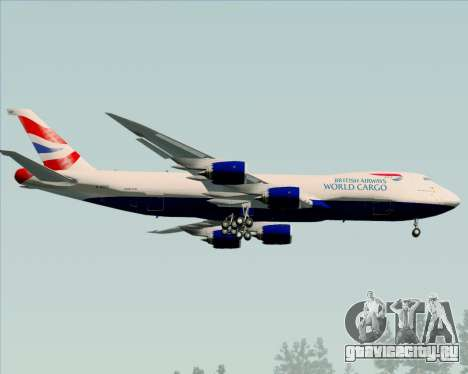 Boeing 747-8 Cargo British Airways World Cargo для GTA San Andreas вид сзади