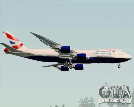 Boeing 747-8 Cargo British Airways World Cargo для GTA San Andreas вид сзади