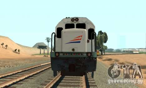 GE U18C CC 201 Indonesian Locomotive для GTA San Andreas вид сзади слева
