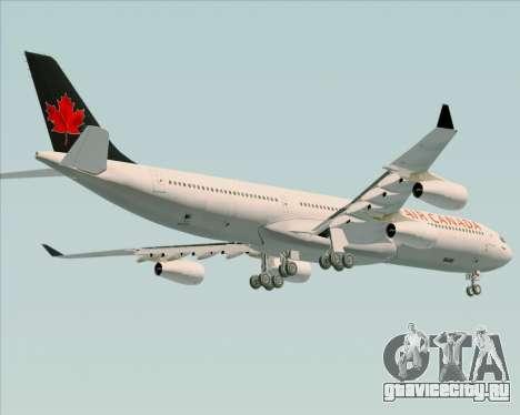 Airbus A340-313 Air Canada для GTA San Andreas вид изнутри