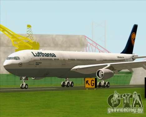 Airbus A340-313 Lufthansa для GTA San Andreas вид слева