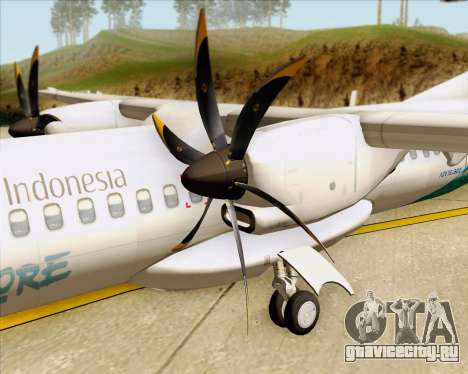 ATR 72-500 Garuda Indonesia Explore для GTA San Andreas вид сбоку