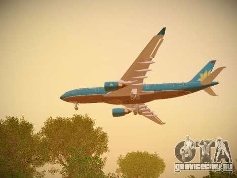 Airbus A330-200 Vietnam Airlines для GTA San Andreas двигатель