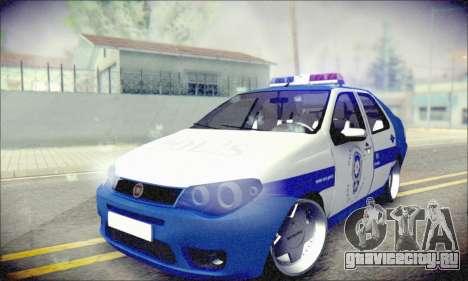 Fiat Albea Police Turkish для GTA San Andreas вид сзади