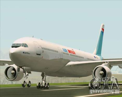 Airbus A330-300 Air Inter для GTA San Andreas вид слева