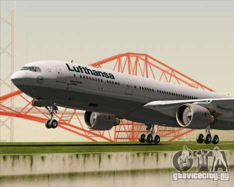 Airbus A330-300 Lufthansa для GTA San Andreas вид сверху