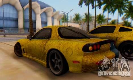 Mazda RX-7 UA PJ для GTA San Andreas вид сзади слева