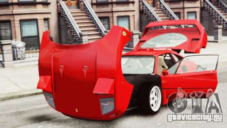 Ferrari F40 1987 для GTA 4 вид сзади