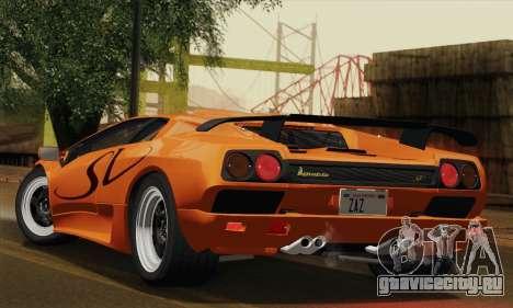 Lamborghini Diablo SV 1995 (ImVehFT) для GTA San Andreas вид справа