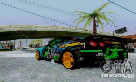 Nissan GT-R для GTA San Andreas вид справа