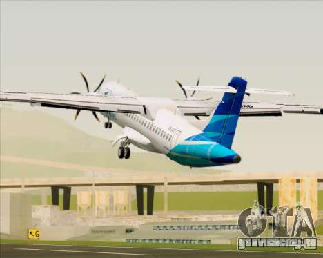 ATR 72-500 Garuda Indonesia Explore для GTA San Andreas двигатель