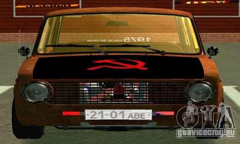 ВАЗ 2101 Rat-look для GTA San Andreas вид изнутри