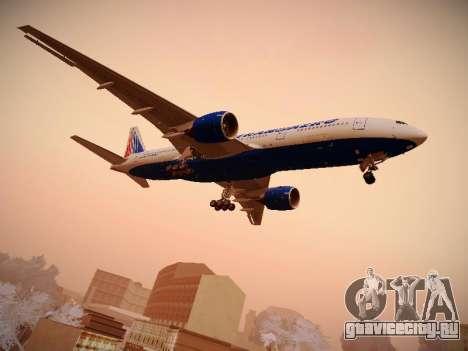 Boeing 777-212ER Transaero Airlines для GTA San Andreas вид справа
