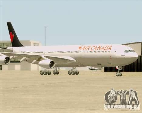 Airbus A340-313 Air Canada для GTA San Andreas вид сбоку