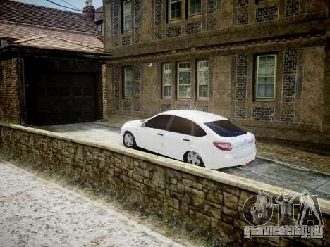 Lada Granta Liftback для GTA 4 вид сзади слева
