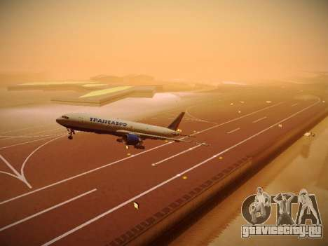 Boeing 777-212ER Transaero Airlines для GTA San Andreas вид сверху