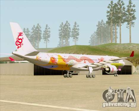 Airbus A330-300 Dragonair (20th Year Livery) для GTA San Andreas вид справа