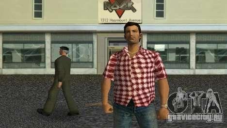 Kockas polo - piros T-Shirt для GTA Vice City третий скриншот